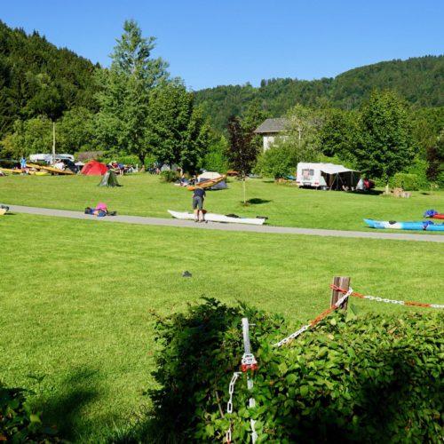 Montag, 2. Juli 2018 63. TID, Station INZELL in der Schlögener Schlinge, km2182,5 rechts