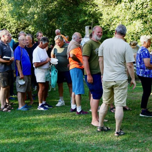 Samstag, 7. Juli 2018 63. TID, in Tulln, km 1962,4 rechts   And hat wieder die knusprigen Grillender organisiert, Danke!