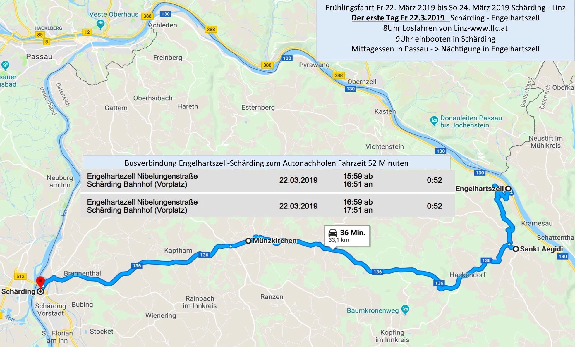 Der erste Tag mit ca 44km Paddeln: