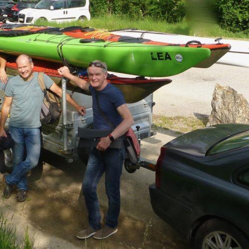 Um 17Uhr geht´s Richtung Tulln, Otto, Manfred, Robert und ich