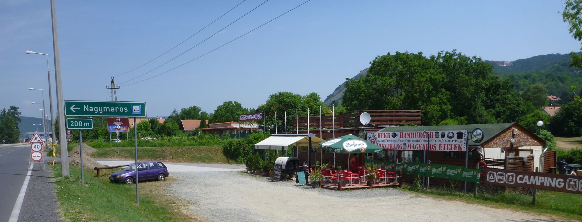 Mittagessen unterhalb Visegrad