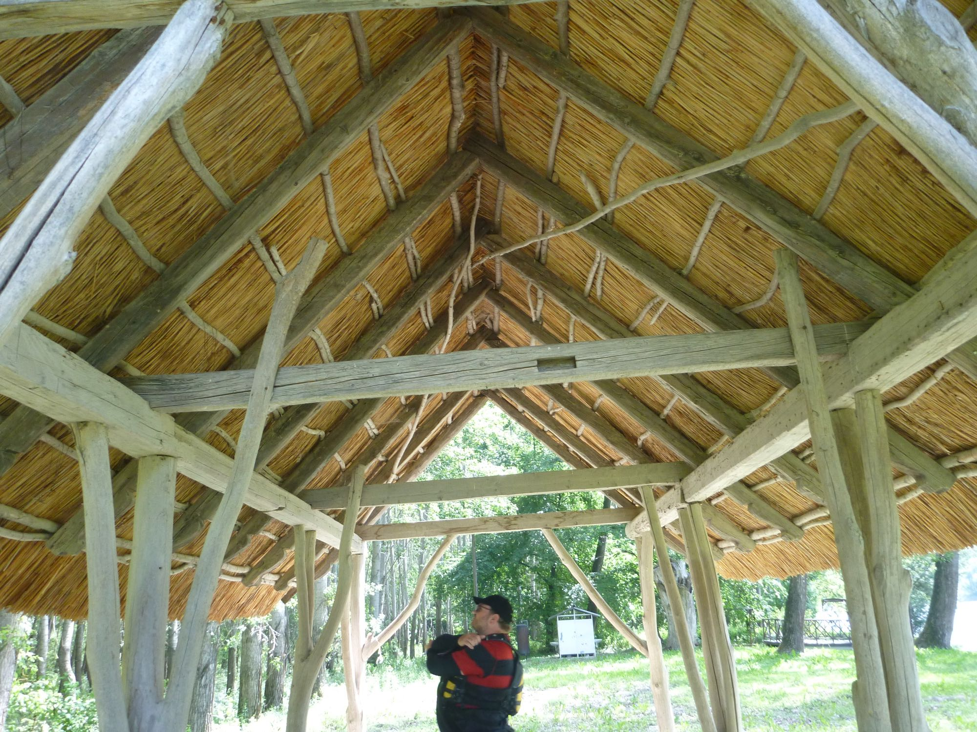Der Holzexperte Jürgen sichtet das Dachwerk