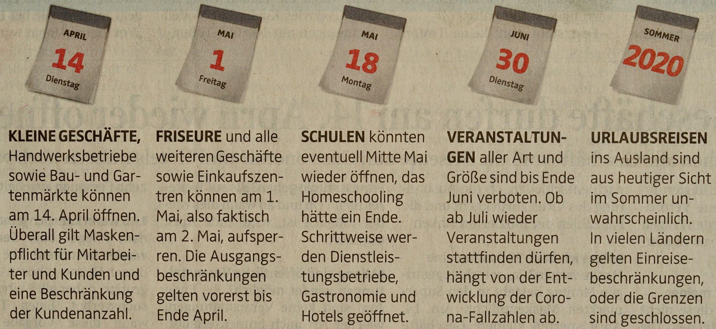 Zeitungsbericht 7. April 2020